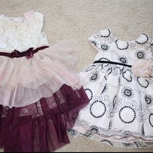Baby Girl glittery Party Dresses 12 mos EUC